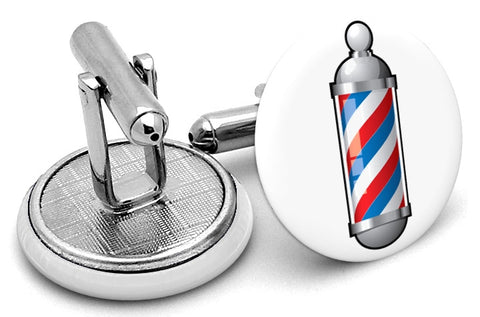 Barbershop Barber Pole Cufflinks