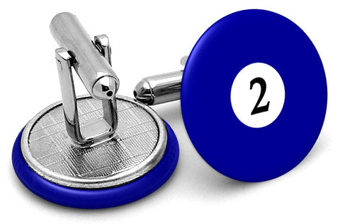 #2 Billiards Pool Ball Cufflinks