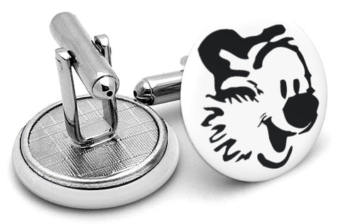 Hobbes Face Cufflinks