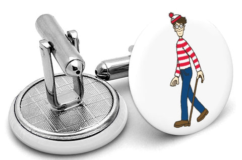 Where's Waldo Wally Cufflinks