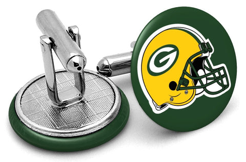 Green Bay Packers Helmet Cufflinks