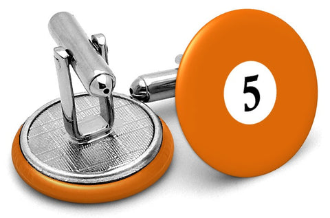 #5 Billiards Pool Ball Cufflinks