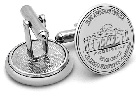 USD Nickel Front Cufflinks