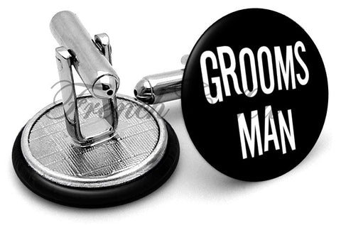 Design #4 Groomsman Wedding Cufflinks - Angled View