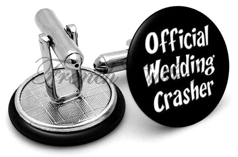 Official Wedding Crasher Cufflinks - Angled View