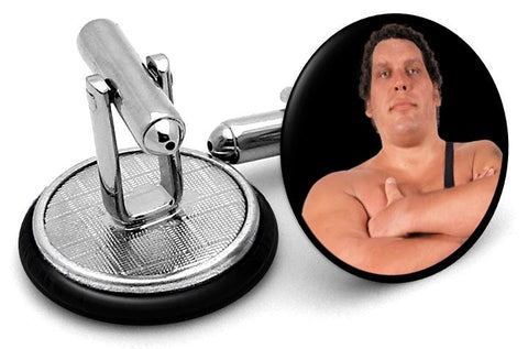 Andre The Giant Cufflinks - Angled View