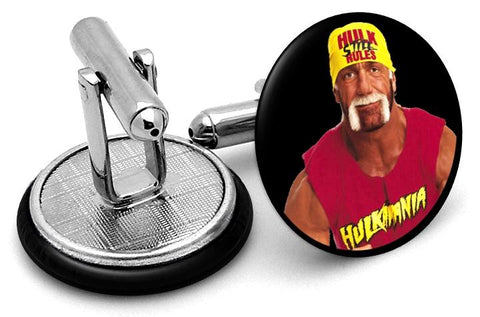 Hulk Hogan Cufflinks - Angled View