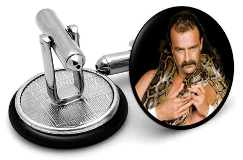 Jake The Snake Cufflinks - Angled View