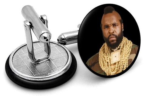 Mr T Cufflinks - Angled View