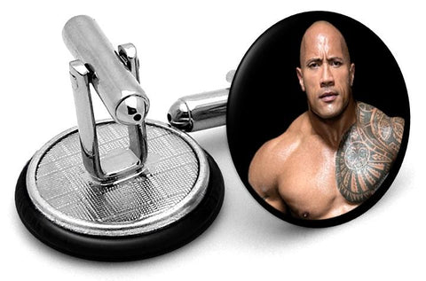 The Rock Cufflinks - Angled View