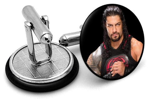 Roman Reigns Cufflinks - Angled View