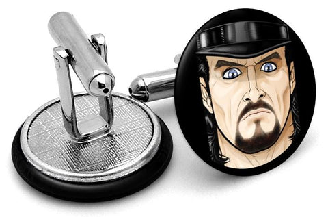 The Undertaker Portrait Cufflinks - Angled View