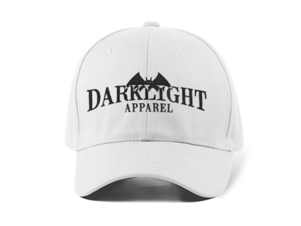 Darklight Logo Baseball Cap White