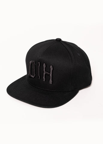Monogram Bucket Snapback Black