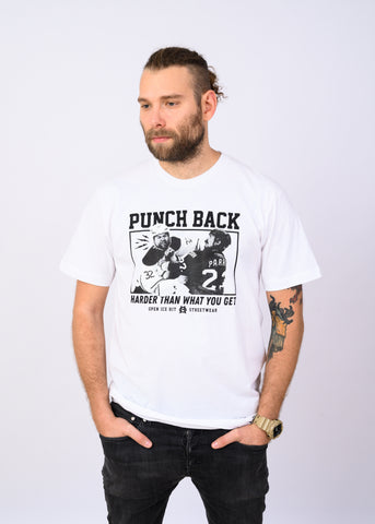 Punch Back Tee White