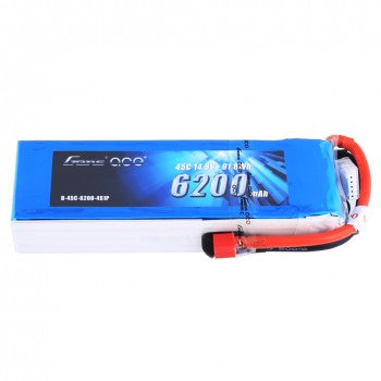 Gens ace 6200mAh 14.8V 45C 4S1P Lipo Battery Pack with Deans Plug