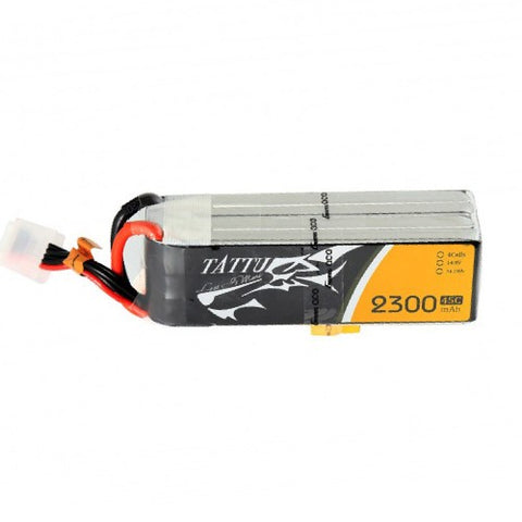 Tattu 2300 mAh 45C 4S1P Lipo Battery Pack w/ XT60 Plug