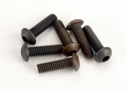 *2577: Traxxas Screws, 3x10mm Button-Head Machine (hex drive) (6)