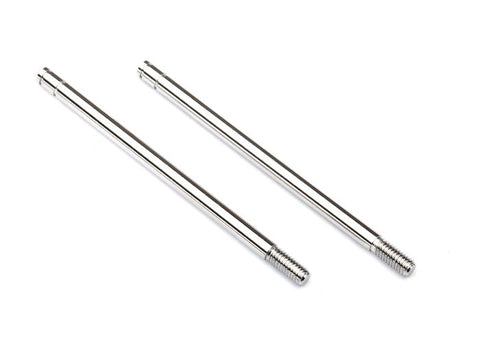 2656: Traxxas Shock Shafts, Steel, Chrome Finish (XX-Long) (2)
