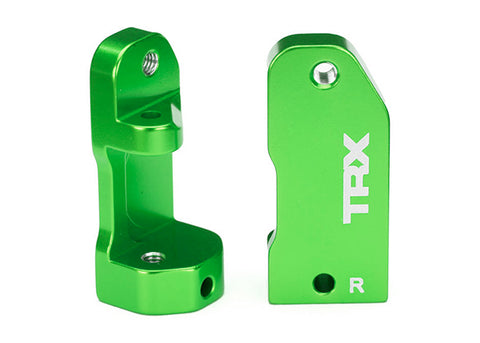 3632G: Traxxas Caster Blocks, 30-degree, Green-Anodized 6061-T6 Aluminum