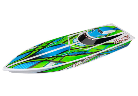 38104-1: Traxxas Blast Race Boat with TQ 2.4GHz Receiver RTR: (Green)*