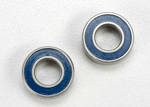 5117: Traxxas Ball Bearings, Blue Rubber Sealed (6x12x4mm) (2)
