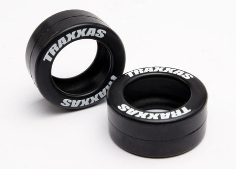 5185: Traxxas Tires, Rubber (2) (fits Traxxas® wheelie bar wheels)
