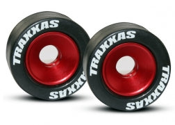5186: Traxxas Wheels, Aluminum (red-anodized)