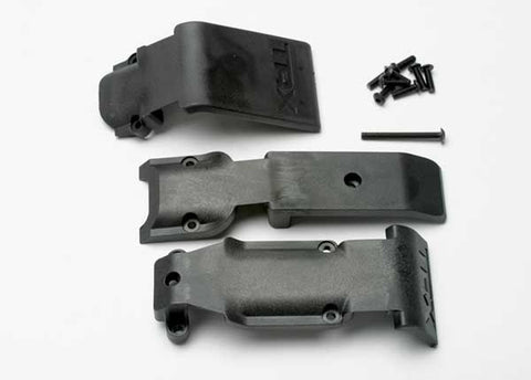 5337: Traxxas Skid Plate Set, Front (2 pieces, plastic)/ Skid Plate, Rear (1 piece, plastic)