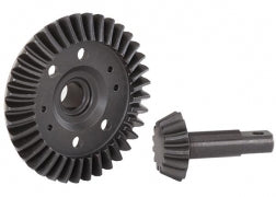 5379R: Traxxas Ring Gear, Differential/ Pinion Gear, Differential (machined, spiral cut)