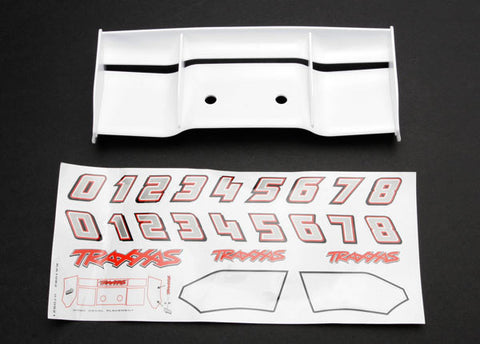 5412: Traxxas Wing, Revo (White) w/Decal Sheet