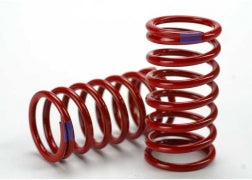 5445: Traxxas Spring, Shock (Red) (GTR) (6.4 Rate Purple) (1 Pair)