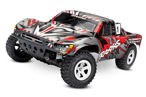 58024: Traxxas Slash 1/10 Scale Electric Short-Course Truck, (Red)*