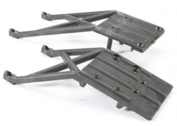 5837: Traxxas Skidplates, front & rear (black)  5837