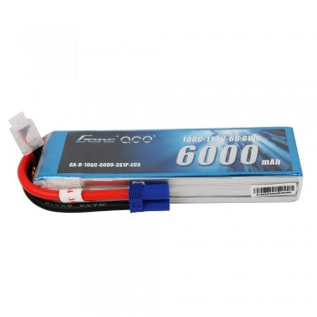 Gens ace 6000mAh 11.1V 100C 3S1P LiPo Battery Pack with EC5 Plug