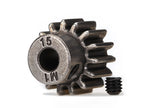 6487X: Traxxas Gear, 15-T Pinion (1.0 metric pitch)