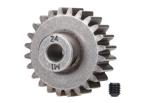 6496X: Traxxas Gear, 24-T Pinion (1.0 metric pitch) (fits 5mm shaft)