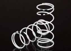 7444: Traxxas Spring, Shock, White (GTR long) (0.767 Rate Black) (1 pair) - 7444