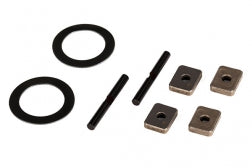 7783: Traxxas Spider Gear Shaft (2) With Spacers 16x23.5x.5mm TW(2)