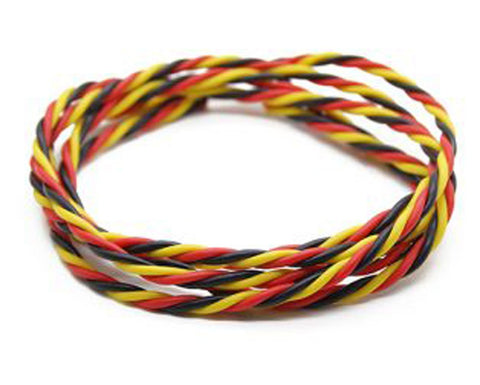 Servo Wire, Twisted - 22AWG (Brwn/Red/Orng)