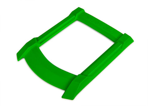 7817G: Traxxas Skid Plate, Roof (body) (green)/ 3x15mm CS (4) (requires #7713X to mount)