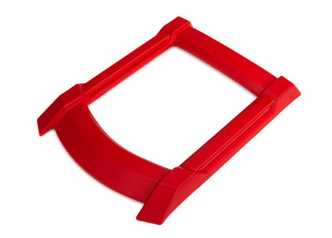7817R: Traxxas Skid Plate, Roof (body) (red)/ 3x15mm CS (4) (requires #7713X to mount)