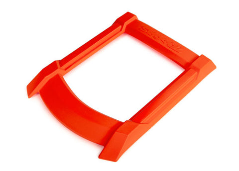 7817T: Traxxas Skid Plate, Roof (body) (orange)/ 3x15mm CS (4) (requires #7713X to mount)