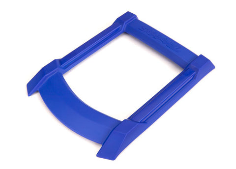 7817X: Traxxas Skid Plate, Roof (body) (blue)/ 3x15mm CS (4) (requires #7713X to mount)