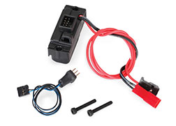 8028: Traxxas LED Lights, Power Supply (regulated, 3V, 0.5-amp)/ 3-in-1 Wire Harness