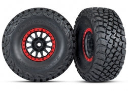 8474: Traxxas Tires and Wheels, Assembled, Glued