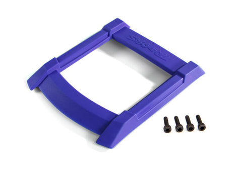 8917X: Traxxas Skid Plate, Roof (body) (blue)/ 3x12mm CS (4)