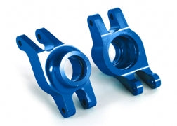 8952X: Traxxas Carriers, Stub Axle (blue-anodized 6061-T6 aluminum) (rear) (2)