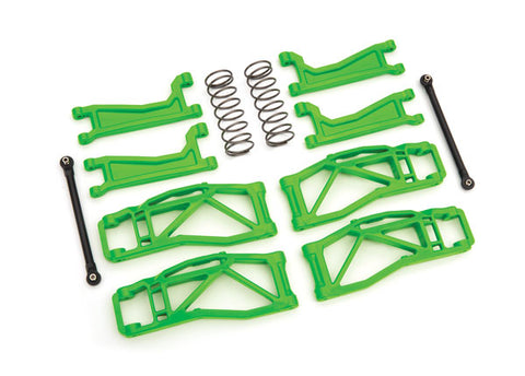 8995G: Suspension kit, WideMaxx™, green (includes front & rear suspension arms, front toe links, rear shock springs)
