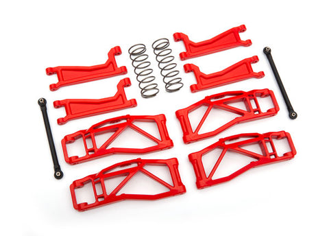 8995R - Suspension kit, WideMaxx™, red (includes front & rear suspension arms, front toe links, rear shock springs)